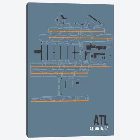 Atlanta (Hartsfield-Jackson) Canvas Print #OET80} by 08 Left Canvas Art