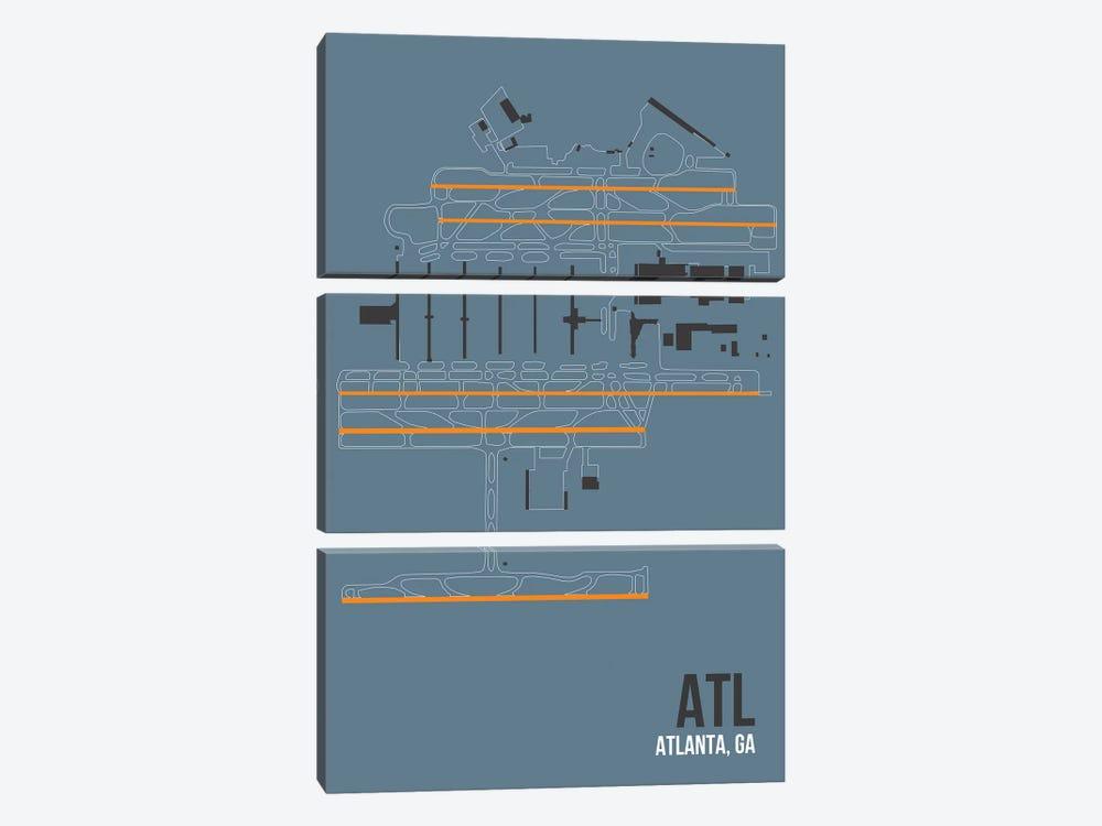 Atlanta (Hartsfield-Jackson) by 08 Left 3-piece Canvas Artwork