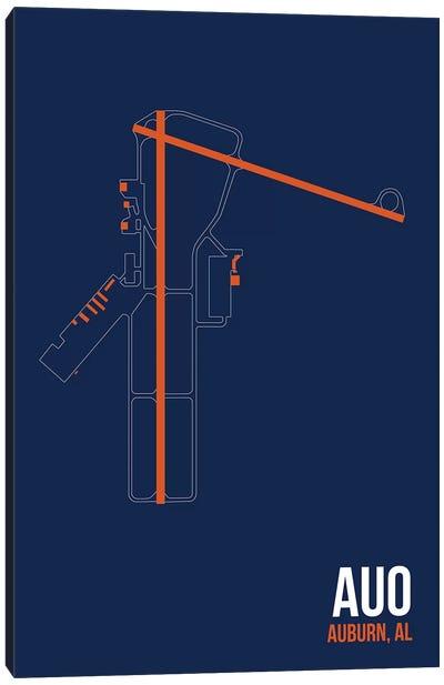 Airport Diagram Series: Auburn Canvas Print #OET81