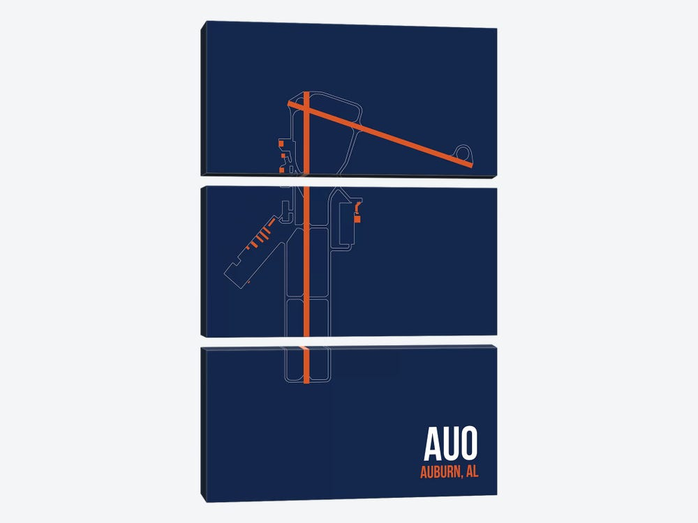 Auburn by 08 Left 3-piece Canvas Art Print