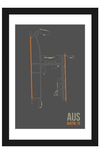 Austin-Bergstrom Framed Art Print