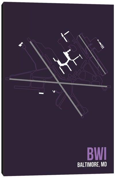 Airport Diagram Series: Baltimore-Washington Canvas Print #OET83