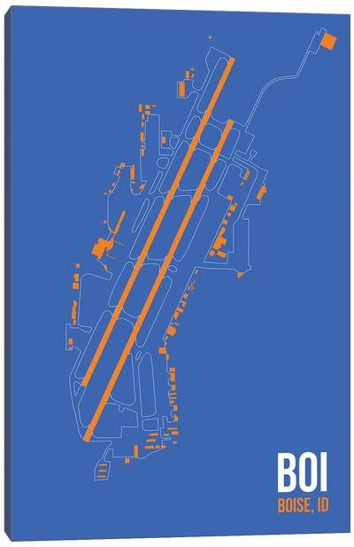 Airport Diagram Series: Boise Canvas Print #OET84