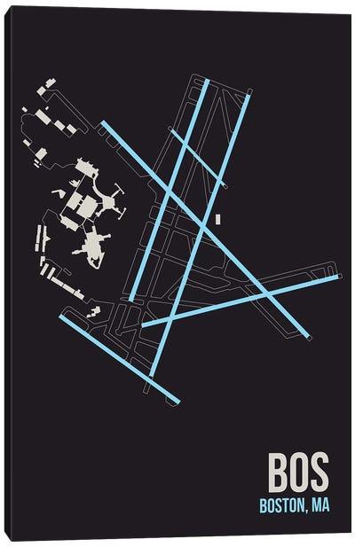 Airport Diagram Series: Boston (Logan) Canvas Print #OET85