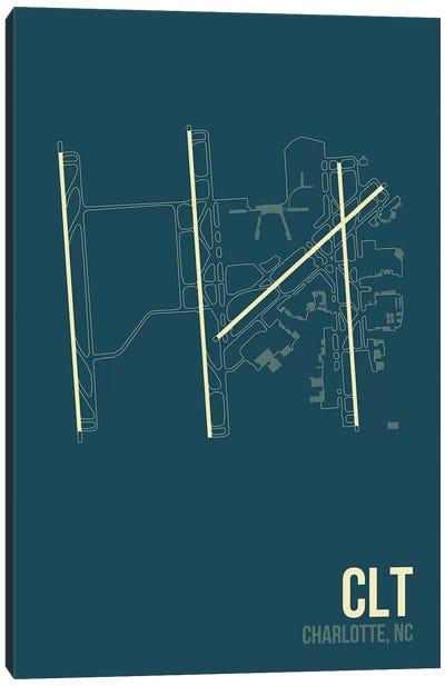 Airport Diagram Series: Charlotte Douglas Canvas Print #OET88