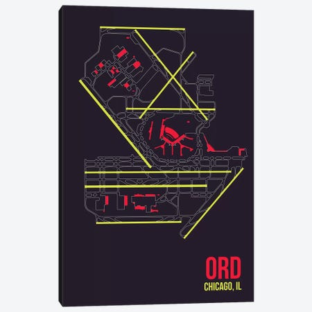 Chicago (O'Hare) Canvas Print #OET90} by 08 Left Art Print