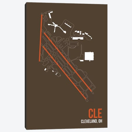 Cleveland Hopkins Canvas Print #OET91} by 08 Left Art Print