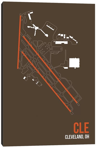 Airport Diagram Series: Cleveland Hopkins Canvas Print #OET91