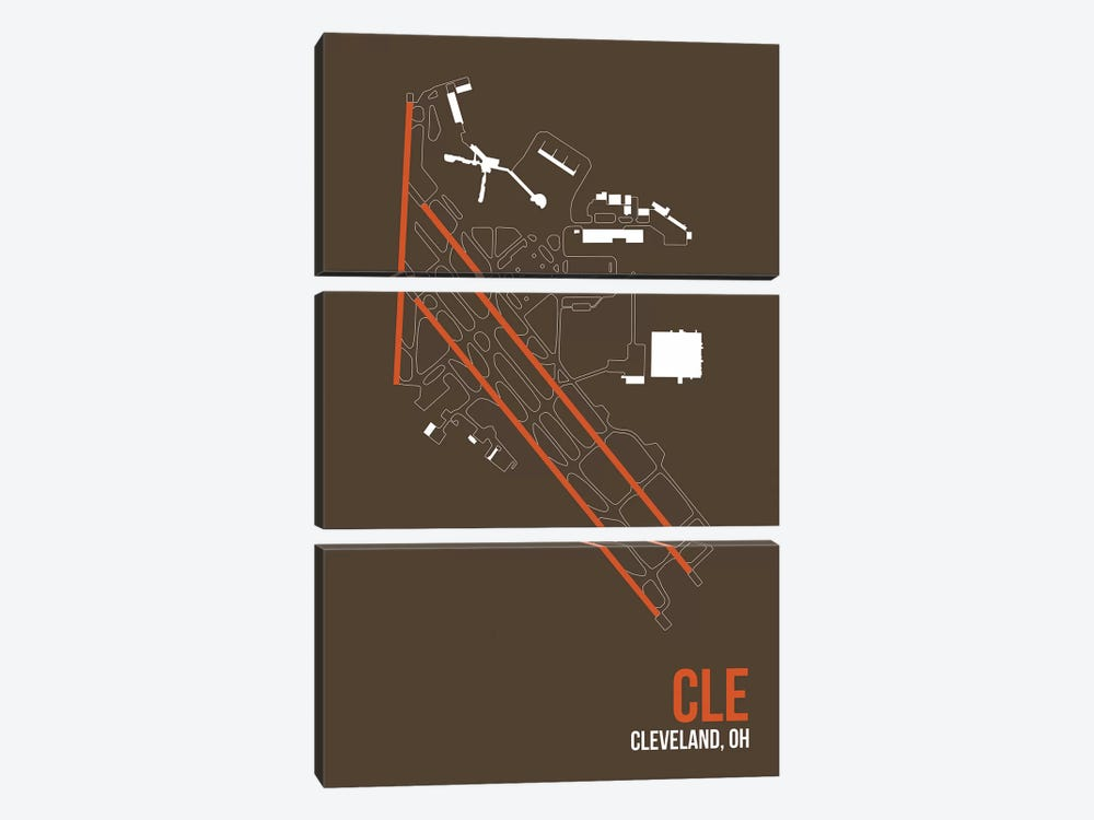 Cleveland Hopkins by 08 Left 3-piece Canvas Art
