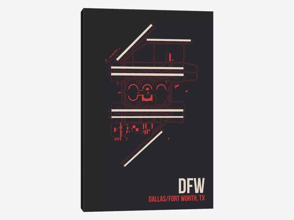Dallas/Fort Worth by 08 Left 1-piece Canvas Art