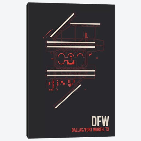 Dallas/Fort Worth Canvas Print #OET93} by 08 Left Canvas Print