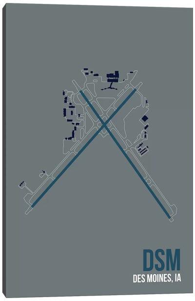 Airport Diagram Series: Des Moines Canvas Print #OET95