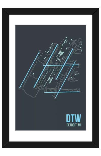 Detroit Metropolitan Framed Art Print