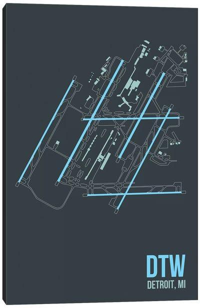 Airport Diagram Series: Detroit Metropolitan Canvas Print #OET96