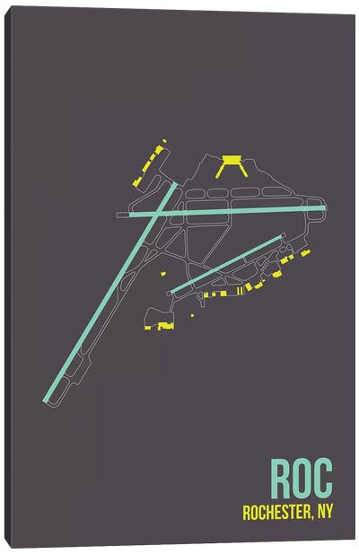 Airport Diagram Series: Greater Rochester Canvas Print #OET98