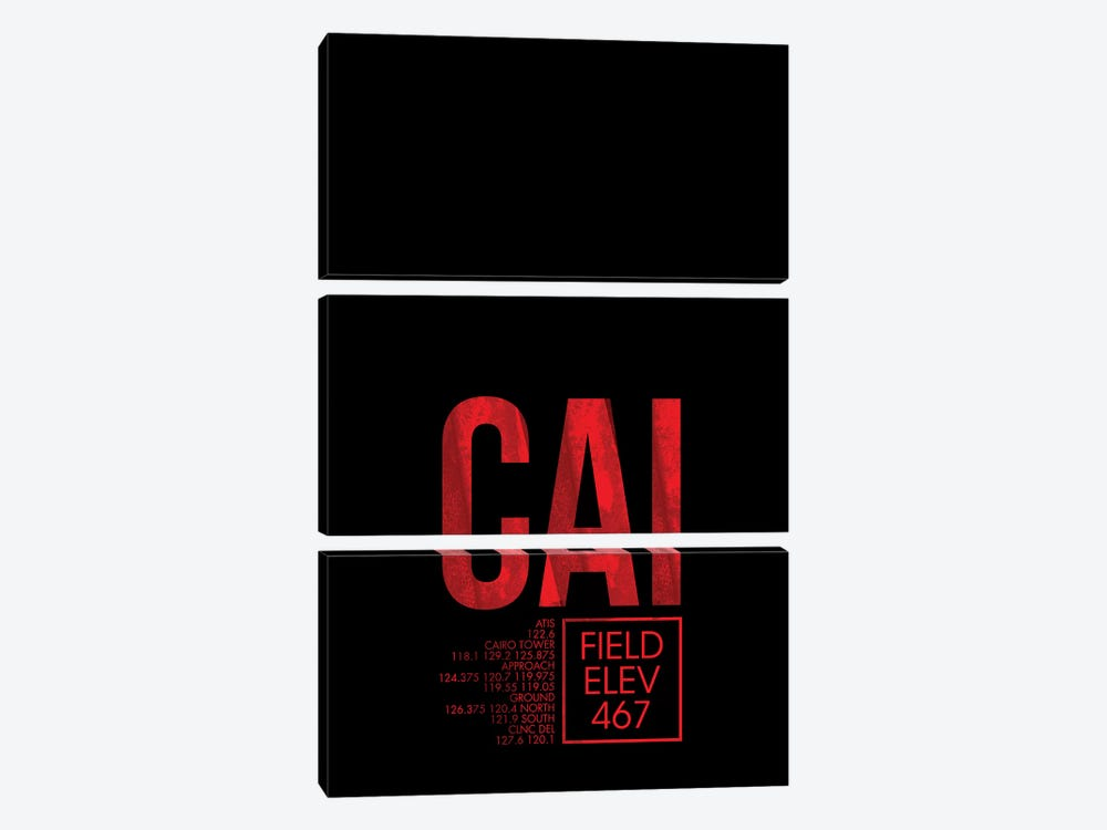 Cairo by 08 Left 3-piece Canvas Print