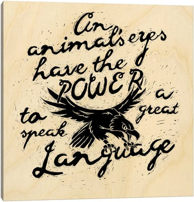 Animal's Eyes Have The Power Canvas Art Print