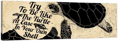 Be Like A Turtle Canvas Art Print