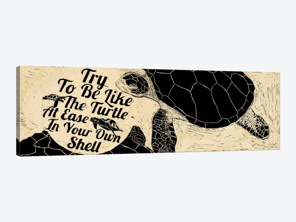 Be Like A Turtle by 5by5collective 1-piece Canvas Artwork