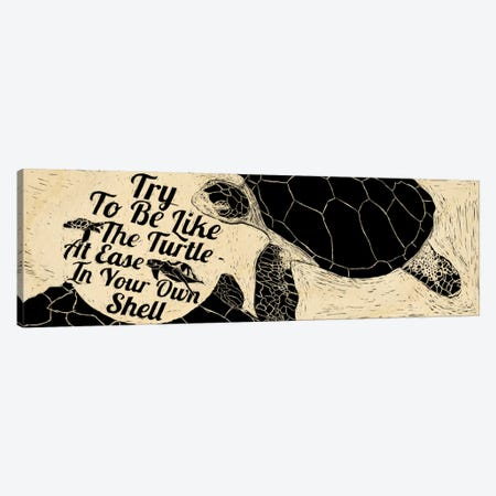 Be Like A Turtle Canvas Print #OFA14} by 5by5collective Art Print