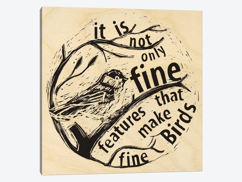 Fine Features Make Fine Birds by 5by5collective 1-piece Canvas Wall Art