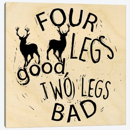 Four Legs Good Canvas Print #OFA17} by 5by5collective Canvas Print