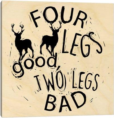 Four Legs Good Canvas Art Print