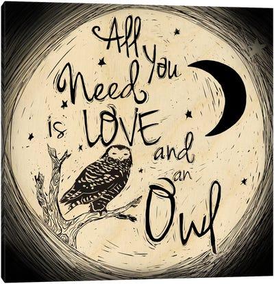 Love And An Owl Canvas Print #OFA1