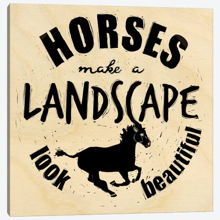 Horses Make A Landscape Canvas Print #OFA20} by 5by5collective Canvas Art Print