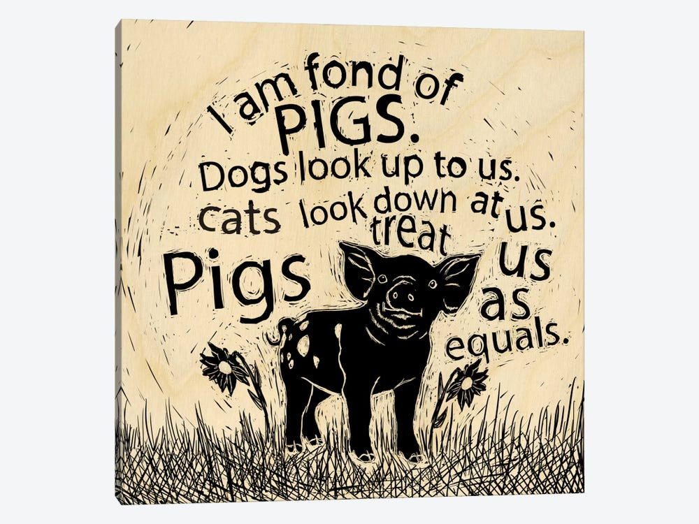 I Am Fond Of Pigs by 5by5collective 1-piece Canvas Art