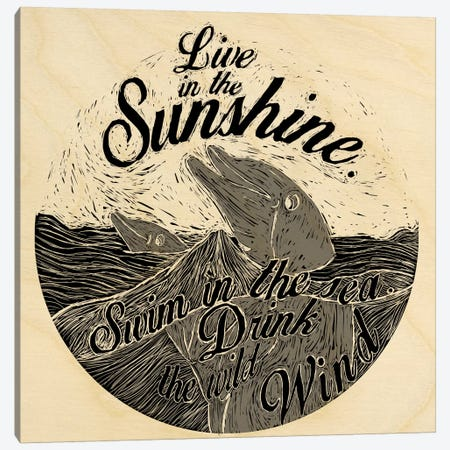 Live In The Sunshine Canvas Print #OFA23} by 5by5collective Art Print