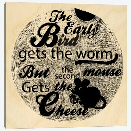 The Second Mouse Gets The Cheese Canvas Print #OFA5} by 5by5collective Art Print