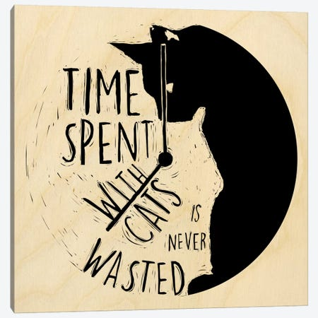 Time Spent With Cats Is Never Wasted Canvas Print #OFA6} by 5by5collective Canvas Art Print