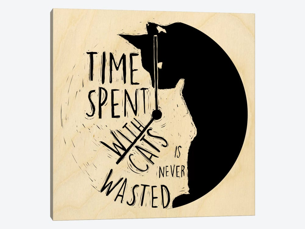 Time Spent With Cats Is Never Wasted by 5by5collective 1-piece Canvas Art Print