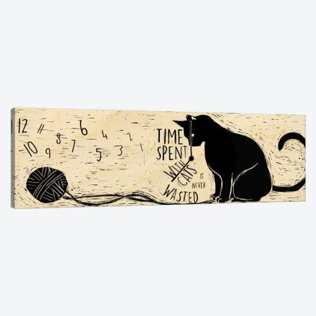 Time Spent with Cats Canvas Print #OFA7} by 5by5collective Canvas Print