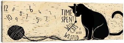 Time Spent with Cats Canvas Art Print