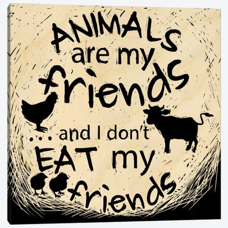 Animals Are My Friends Canvas Print #OFA9} by 5by5collective Canvas Artwork