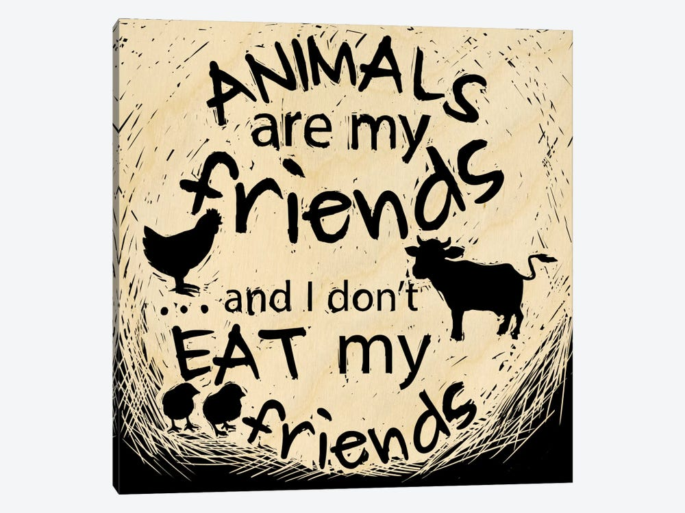Animals Are My Friends by 5by5collective 1-piece Canvas Artwork