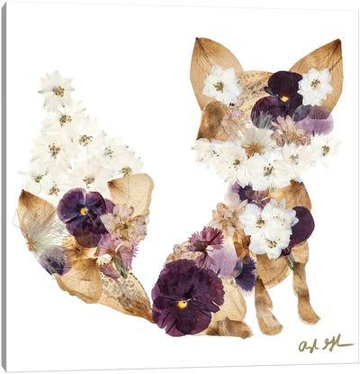 Fox - Purple Canvas Art Print