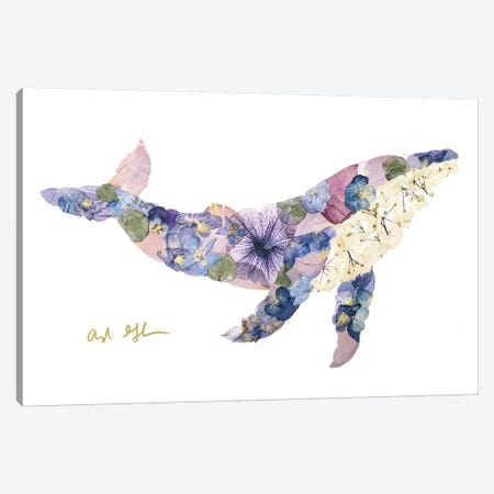 Humpback Whale Canvas Print #OFC16} by Oxeye Floral Co Canvas Print