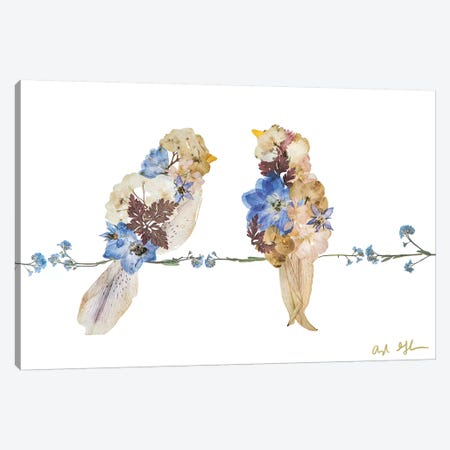 Lovebirds Canvas Print #OFC18} by Oxeye Floral Co Canvas Art