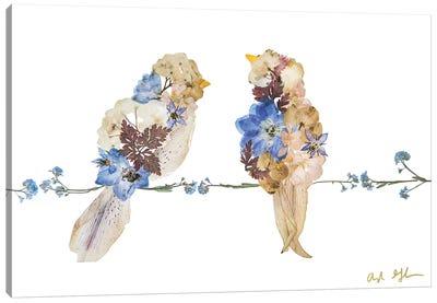Lovebirds Canvas Art Print