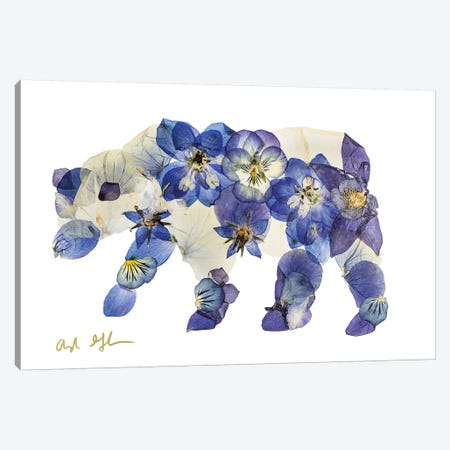 Bear I Canvas Print #OFC1} by Oxeye Floral Co Canvas Wall Art