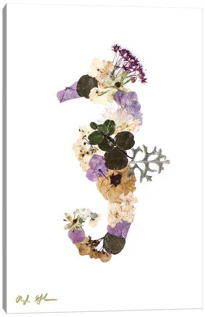 Seahorse - Neutral Canvas Art Print