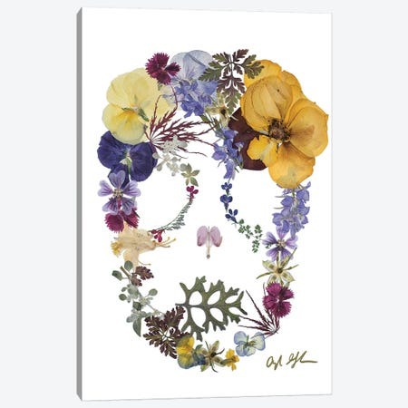 Skull - Savina Canvas Print #OFC27} by Oxeye Floral Co Canvas Wall Art