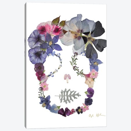 Skull - Sloane 3-Piece Canvas #OFC28} by Oxeye Floral Co Art Print