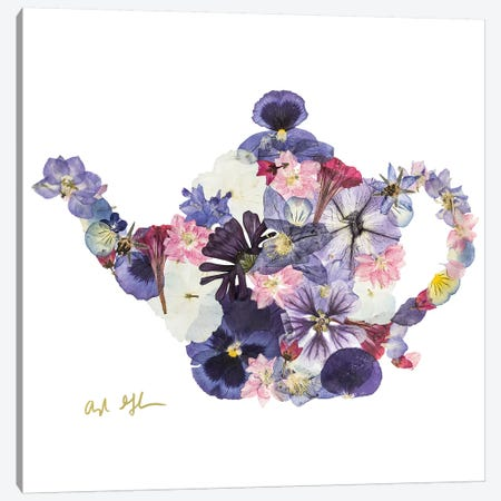 Teapot Canvas Print #OFC30} by Oxeye Floral Co Canvas Art