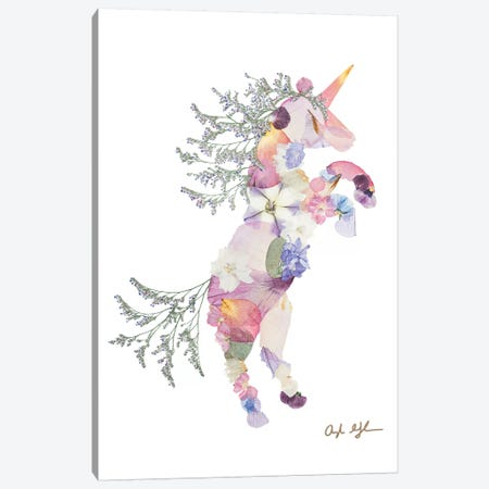 Unicorn Canvas Print #OFC31} by Oxeye Floral Co Canvas Art