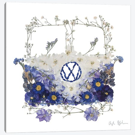 VW - Blue Canvas Print #OFC32} by Oxeye Floral Co Canvas Art