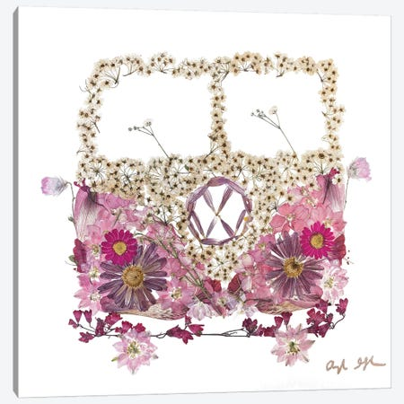 VW - Pink Canvas Print #OFC33} by Oxeye Floral Co Canvas Artwork